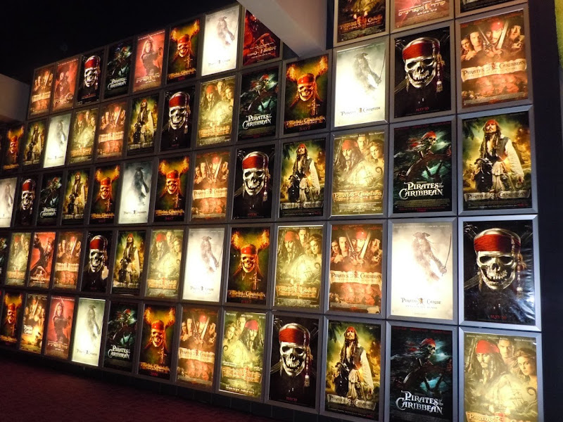 Pirates of the Caribbean movie poster wall