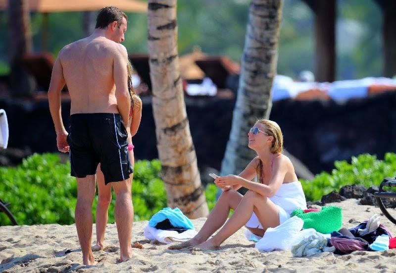 Gwyneth Paltrow wearing a Pink Bikini and Tattoo in Hawaii