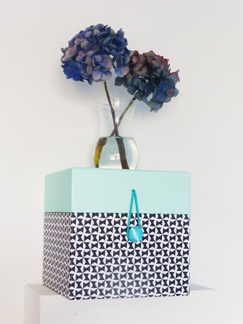 Dekoration Blume Hortensie blau mint