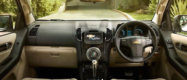 Chevrolet-Trailblazer-dashbord செவர்லே ட்ரையல்பிளேசர் எஸ்யூவி  விற்பனைக்கு வந்தது