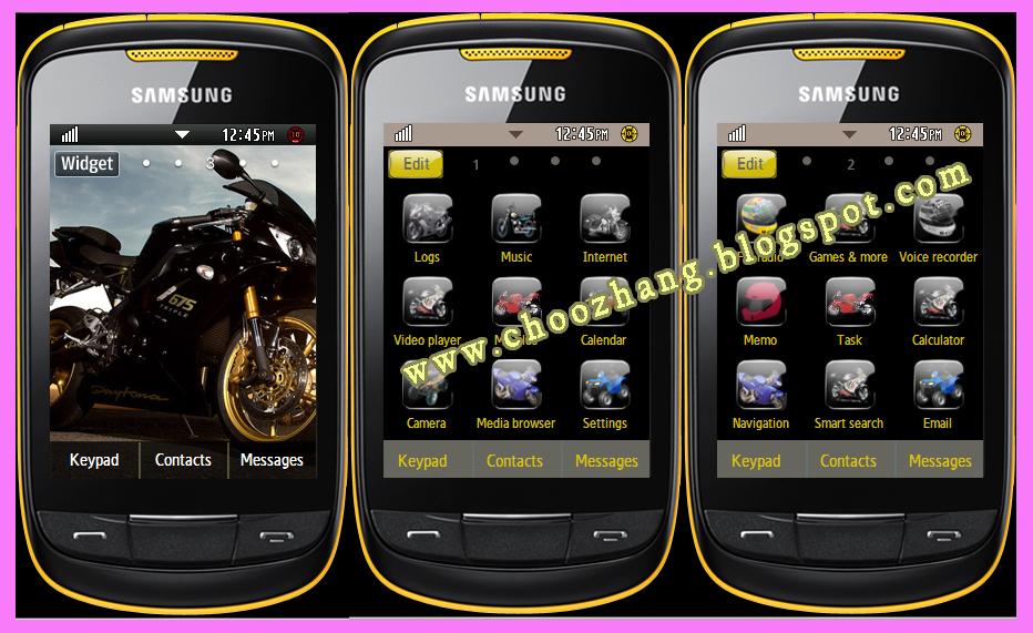 Samsung Corby 2 Or S3850   Big Bikes Theme