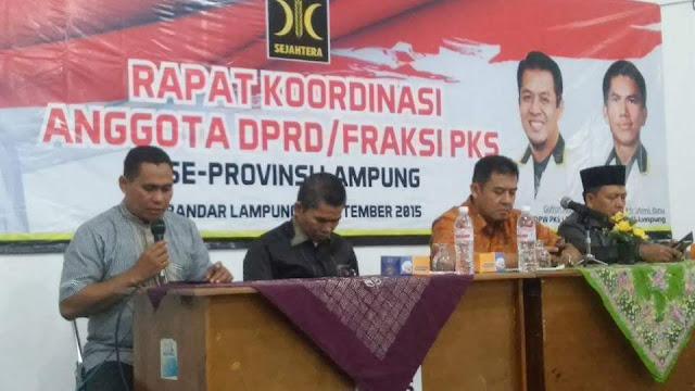 Sederhana, Fraksi PKS Gelar Rakor Se Lampung