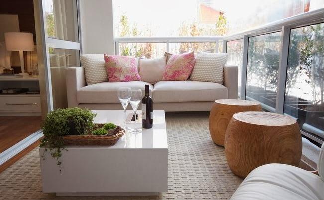 Decora o de varandas e sacadas integradas e gourmet for Sala de estar gourmet