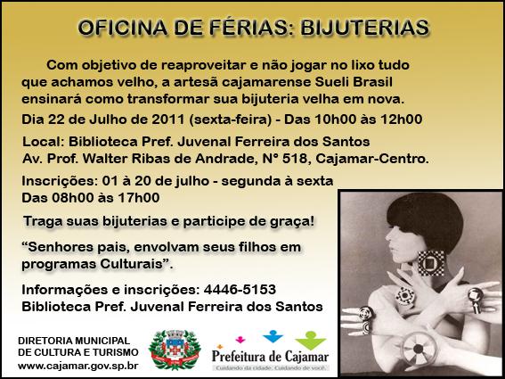Bijuterias e croch for Oficinas de cajamar