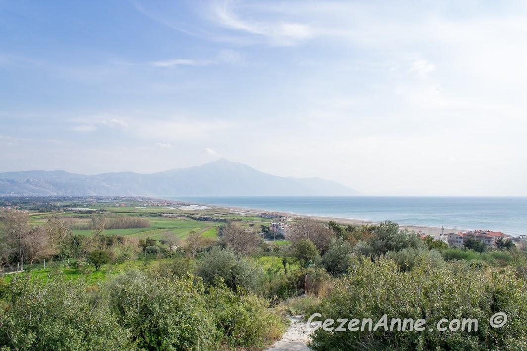 Samandağ ilçesine bağlı Çevlik köyünden Akdeniz manzarası, Hatay