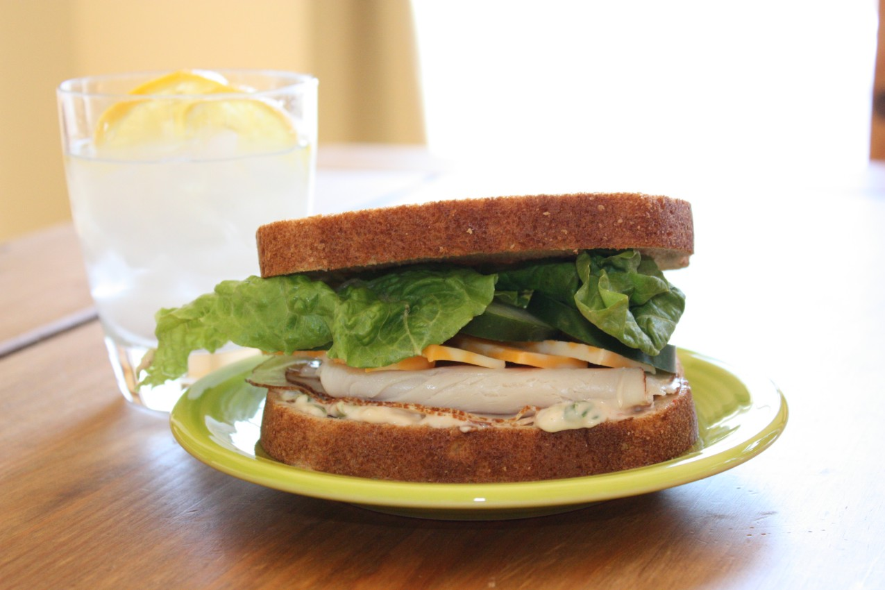 pass the peas, please: smoked turkey sandwich with chipotle mayo