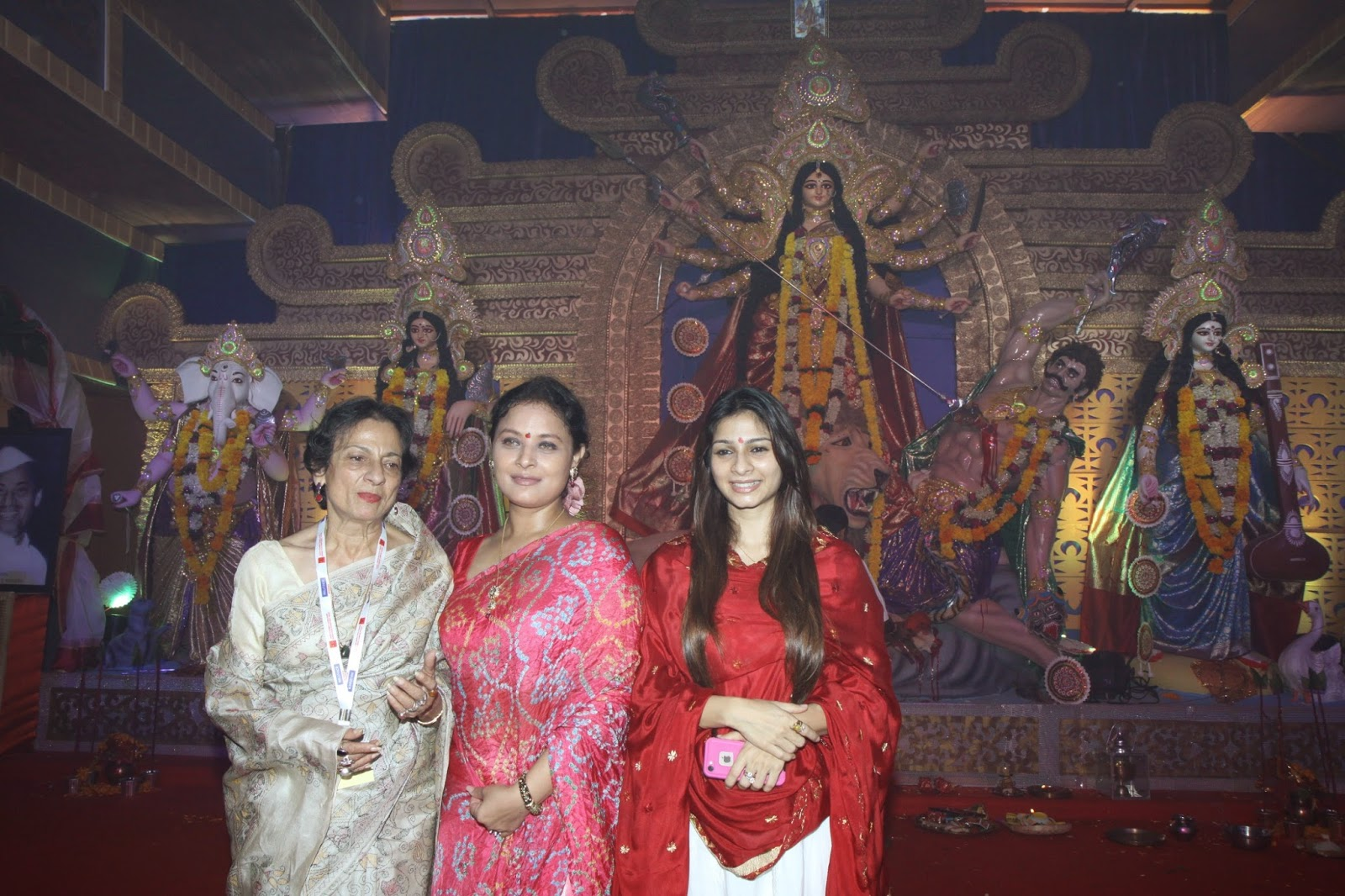 Celebs at North Bombay Sarbojanin Durga Puja Pandal Stills