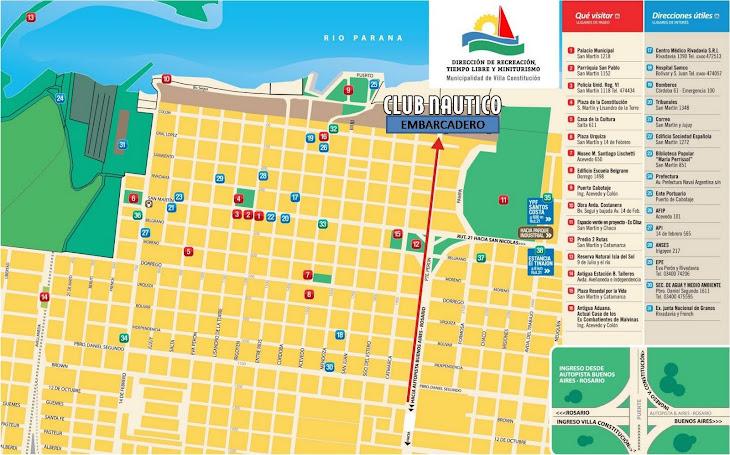 Plano de la ciudad de Villa Constitución