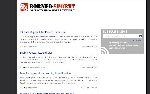 Borneo Sporty Herdiansyah Template Blogger