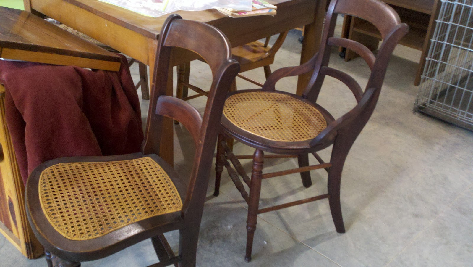 Antique Wooden Chairs With Cane Seats