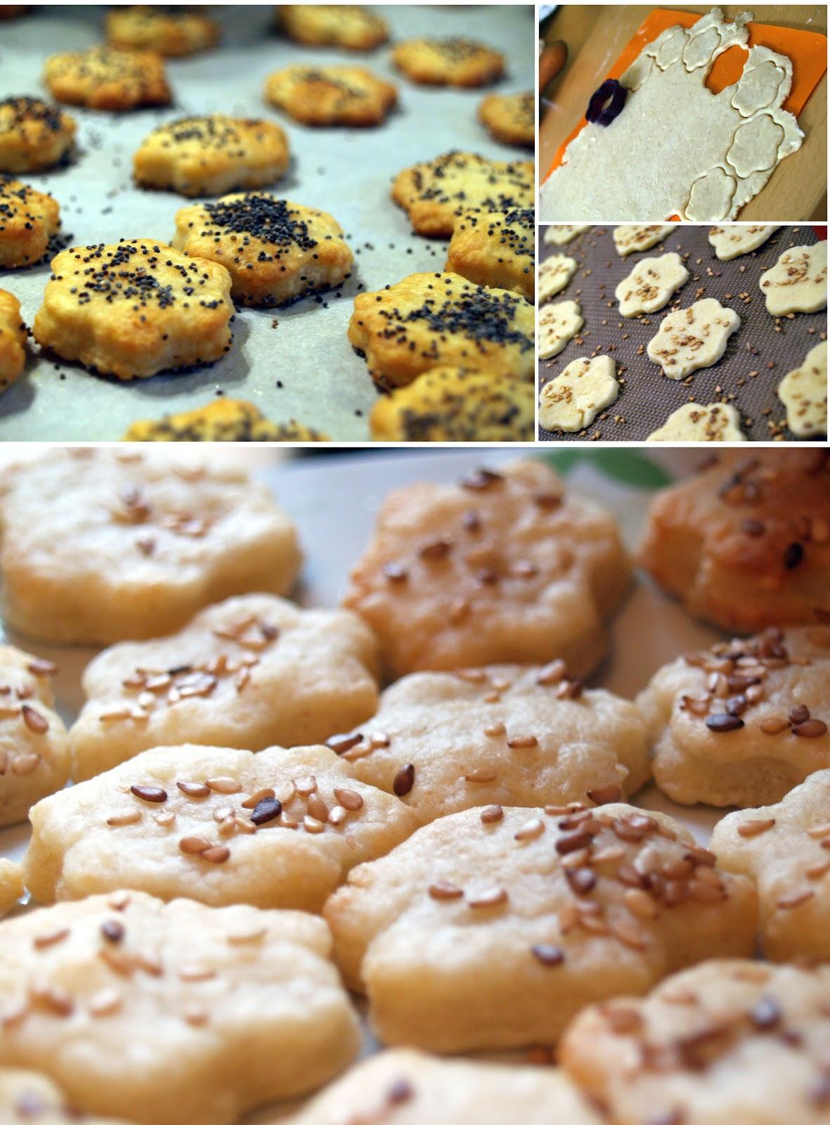 bamby cuisine crackers fromage graines de s same et pavot. Black Bedroom Furniture Sets. Home Design Ideas
