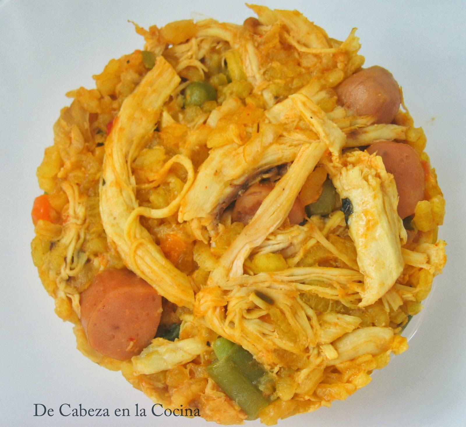 Arroz Con Pollo Colombiano Arroz con pollo y verduras a