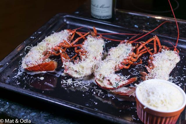 gratinerad hummer
