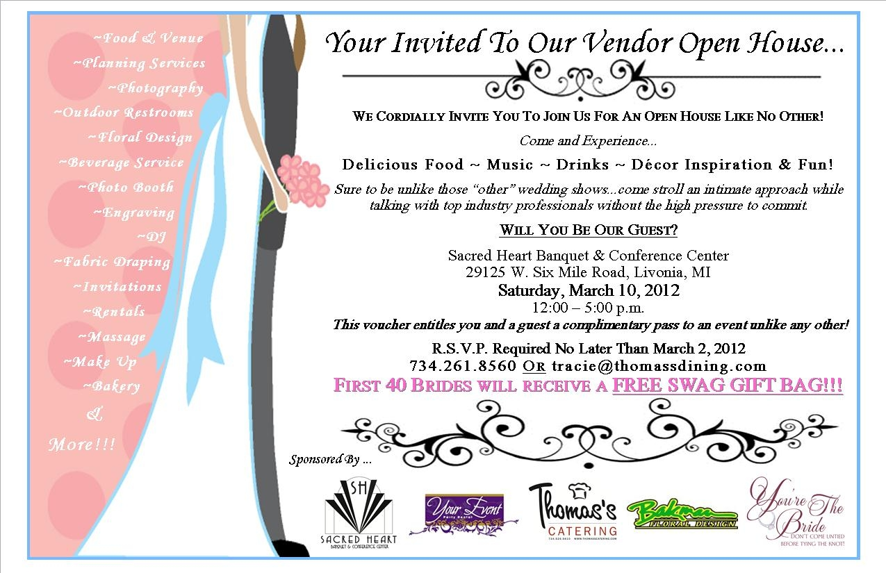 We Have Extended The Wedding Vendor Open House Rsvp To This Thursday March 8th See Below On Where Email Your