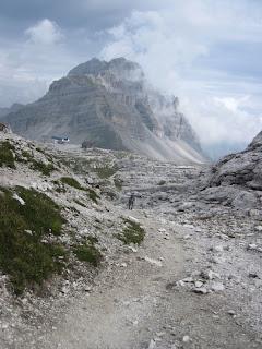 Rückblick zum Passo del Grostè und der Pietra Grande dahinter