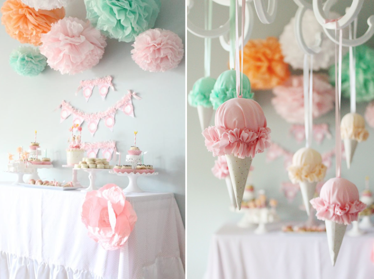 Ice Cream Party Decoration Ideas