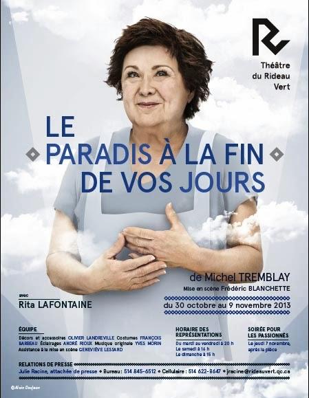 Théâtre du Rideau Vert/ Le Paradis à la fin de vos jours