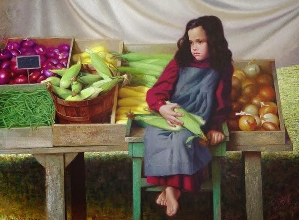niñas-con-frutas