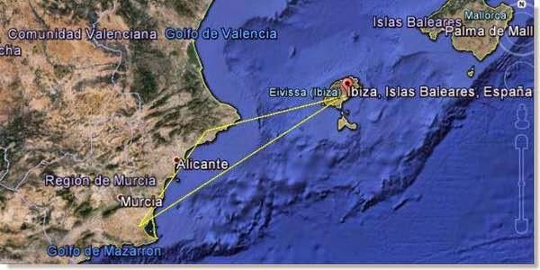 campeonato marítimo Ibiza-Murcia