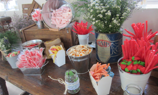 Oh mywedding una boda r stica muy especial for Ideas para mesas de chuches