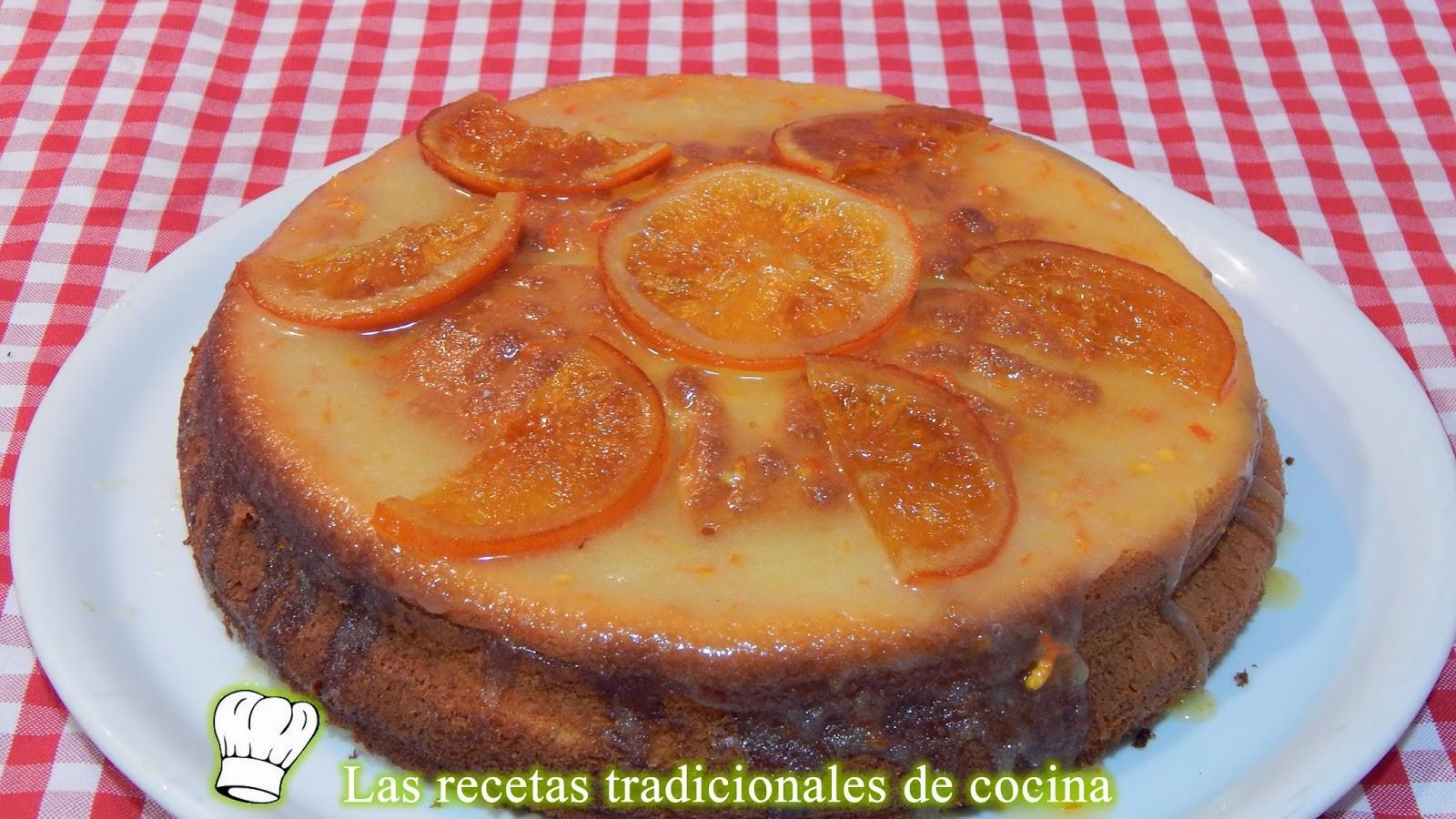 bizcocho de naranja fácil y esponjoso