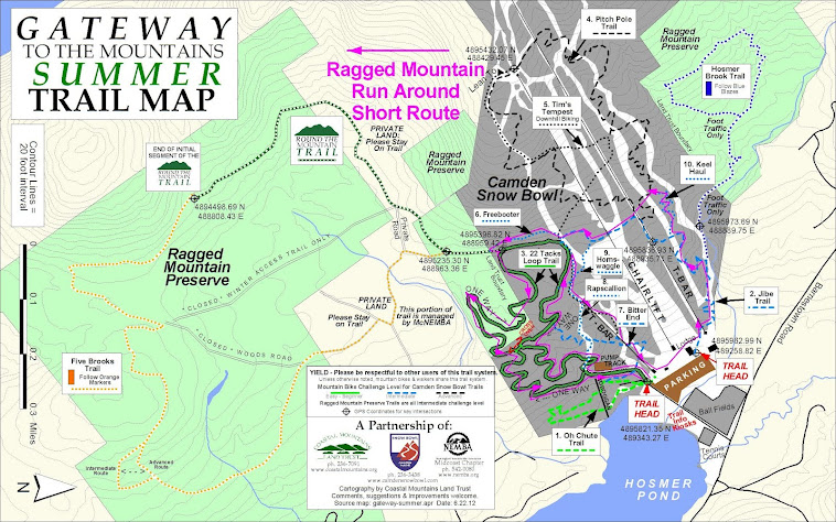 Four Mile Course Map