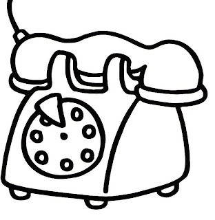 a desenhar Telefone residencial colorir