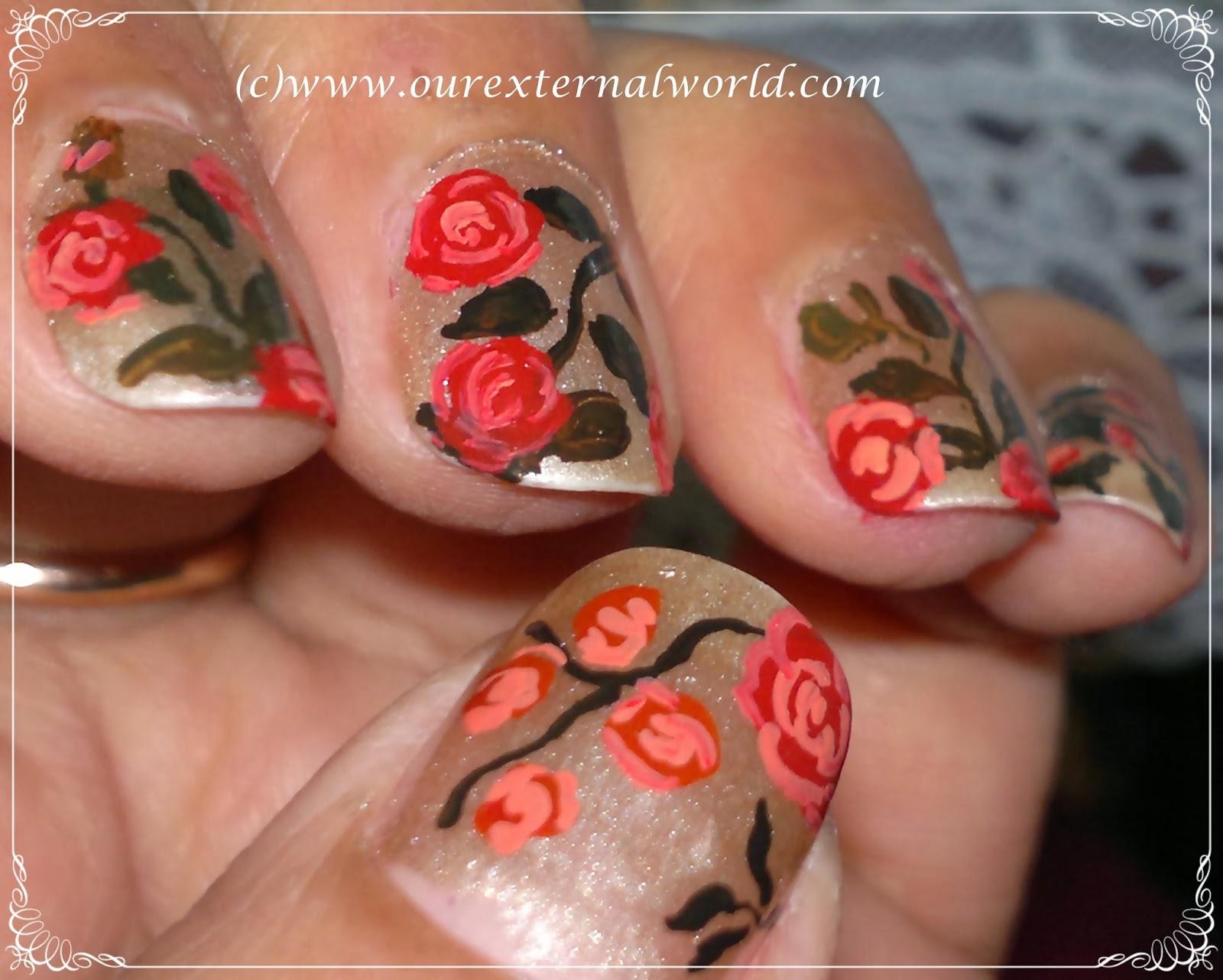 Vintage rose nail art tutorial vintage rose nail art tutorial inspired by robin moses prinsesfo Choice Image