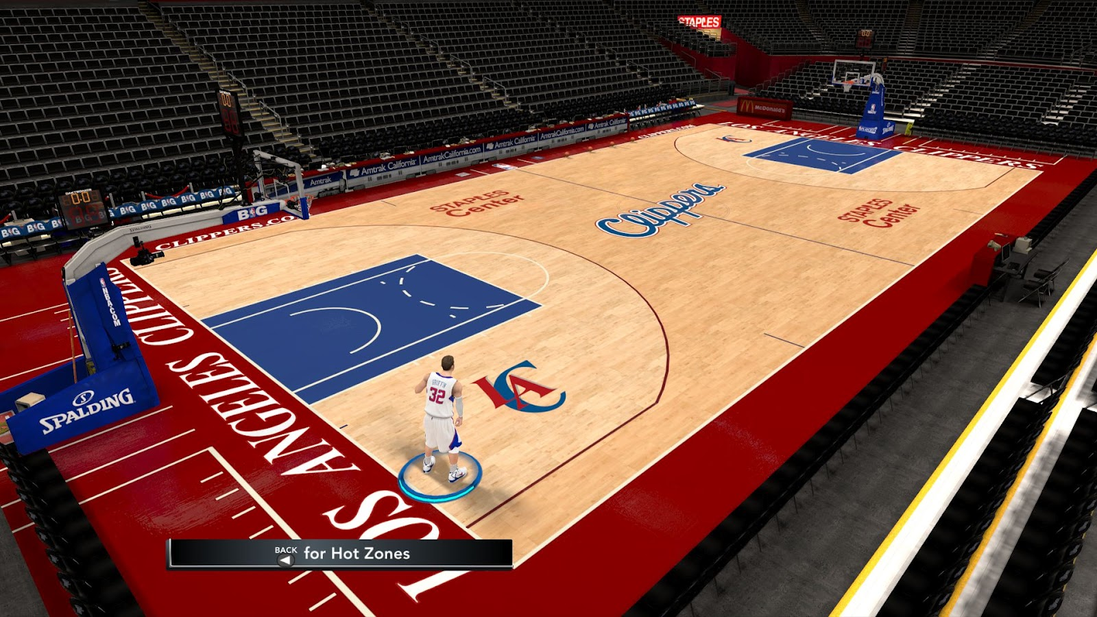 Los Angeles Clippers Hd Court Patch Nba 2k12 Nba2k Org