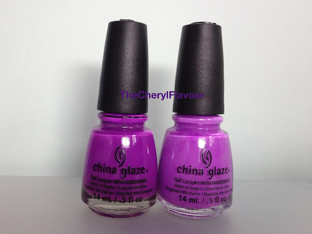 China Glaze Are You Jelly? vs China Glaze That's Shore Bright