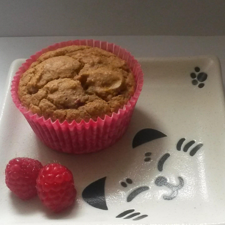 Chemgal Cooks: Paleo Grain Free Peach Melba Almond Muffins