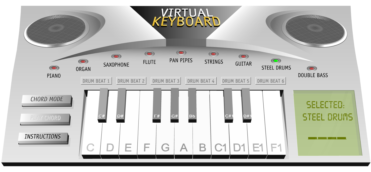 free technology for teachers virtual keyboard play piano organ drums. Black Bedroom Furniture Sets. Home Design Ideas