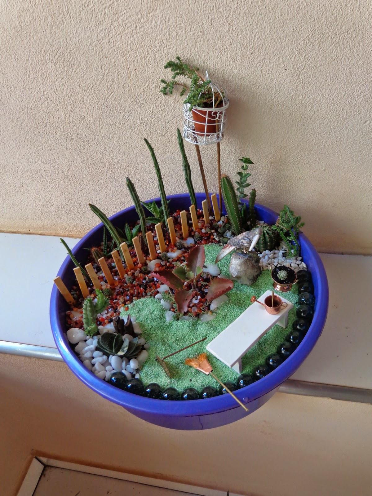 artesanato mini jardim : artesanato mini jardim:Mais um mini-jardim de cactos e suculentas pra inspirar – Diário de