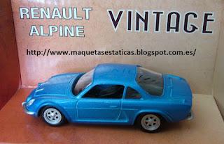 diecast model static car Renault Alpine
