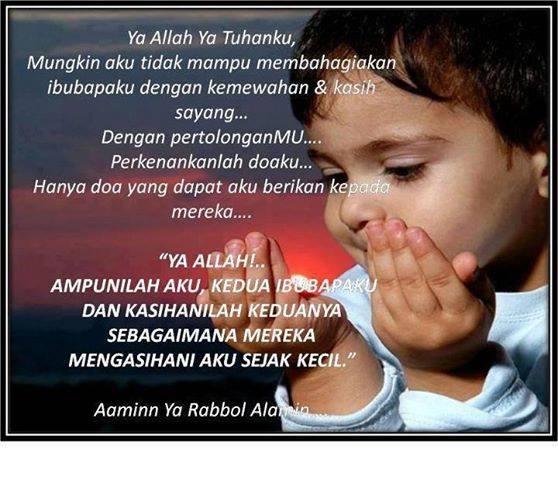 doa untuk ibu bapa, doa anak soleh, bahagiakan ibu bapa