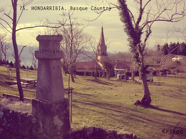 ermita y campa de guadalupe en hondarribia como postal antigua