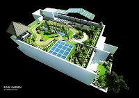 jasa desain roof garden taman di atas atap rumah atap