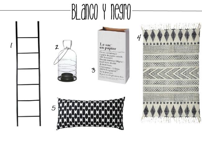 accesorios en blanco y negro