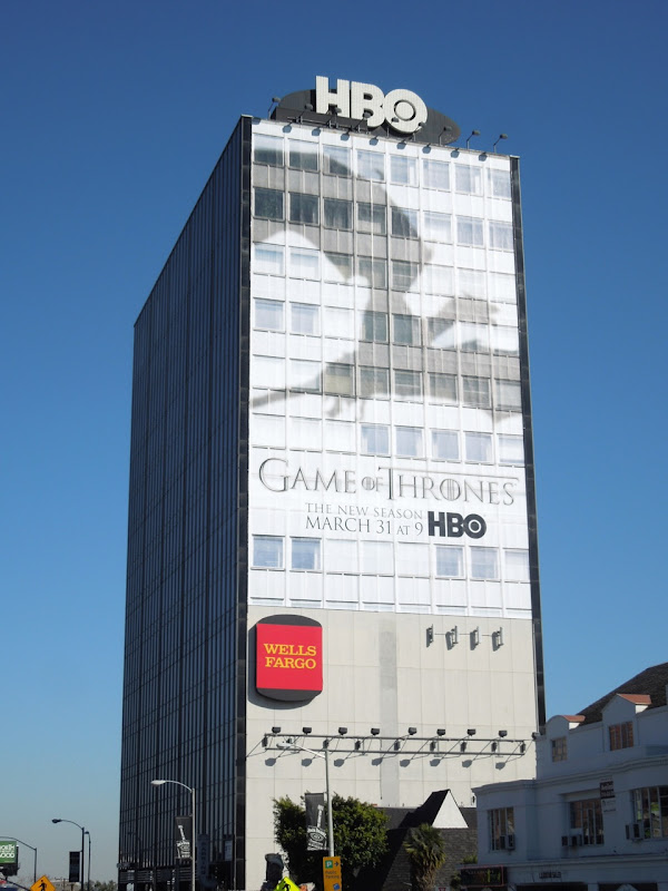 Giant Game of Thrones season 3 dragon shadow billboard
