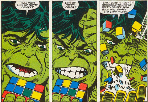 Rubik Cube Hulk