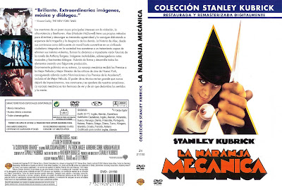 COVER, CARATULA, DVD: La naranja mecánica | 1971 | A Clockwork Orange