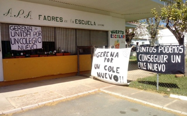 MAREA VERDE APOYA LA LUCHA DE GERENA POR UN NUEVO COLE!!!