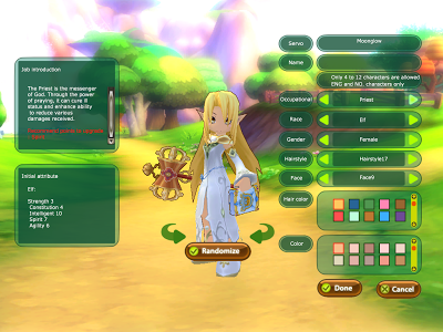 FairyLand 2 Online - Character Creation Priest