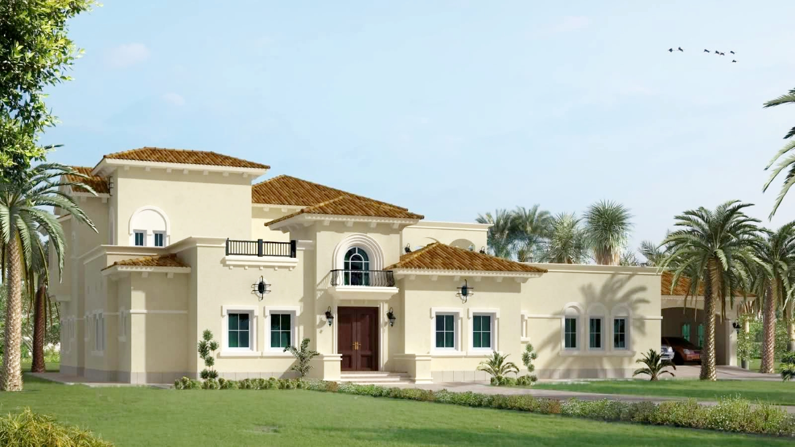 India kerala and international villa pictures arabic for Villas designs photos
