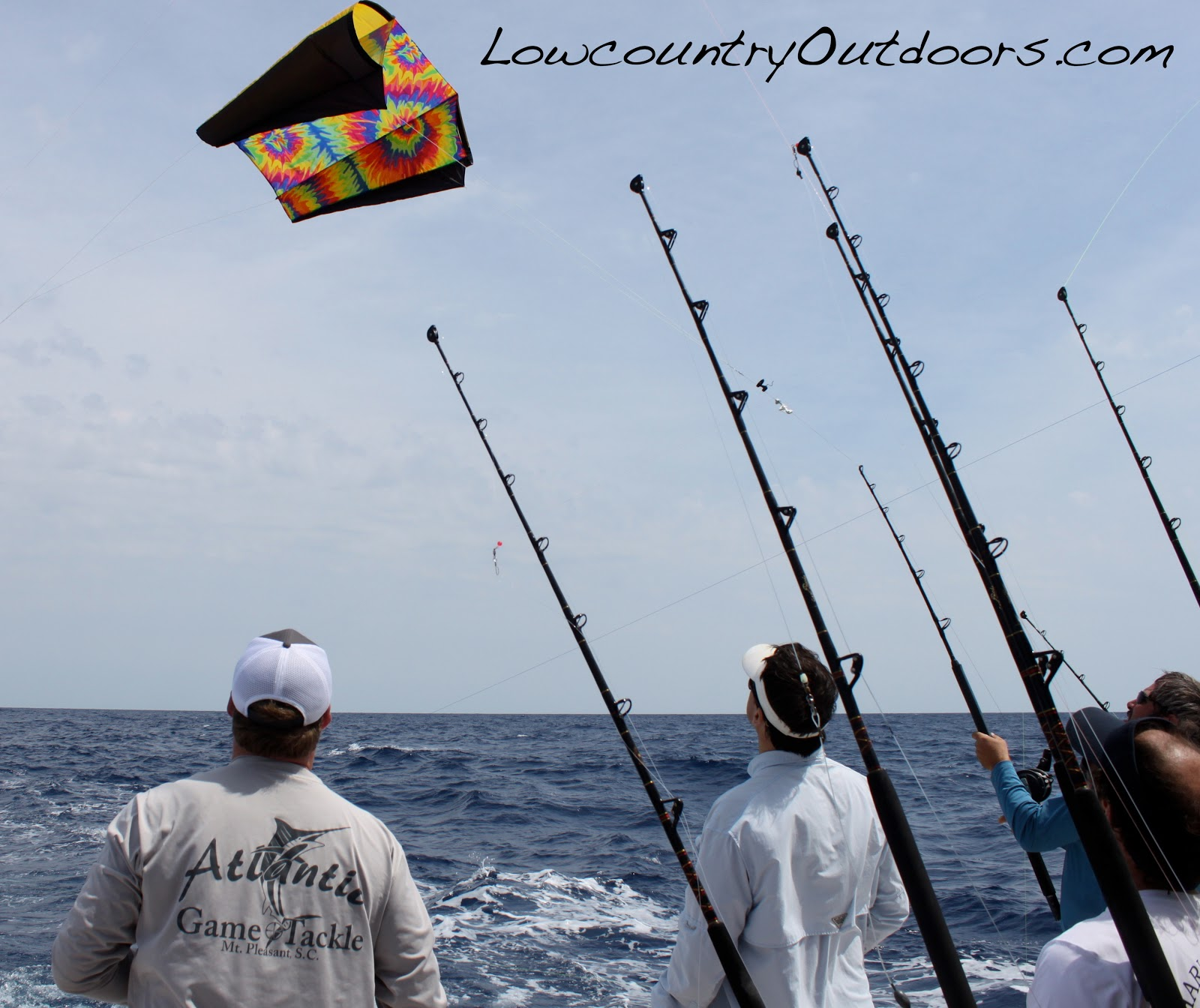 Lowcountry outdoors blue marlin release for lil 39 bit on for Kite fishing for tuna