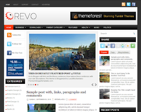 Revo Blogger Theme