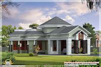 diseño de casa con colores gris verde claro rojo y blanco
