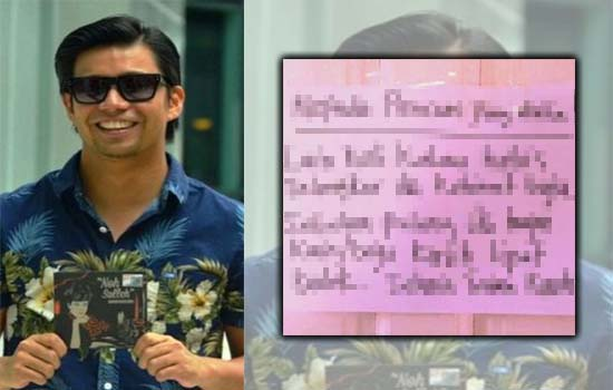 Ayah Noh Hujan tinggalkan nota mengejutkan untuk pencuri