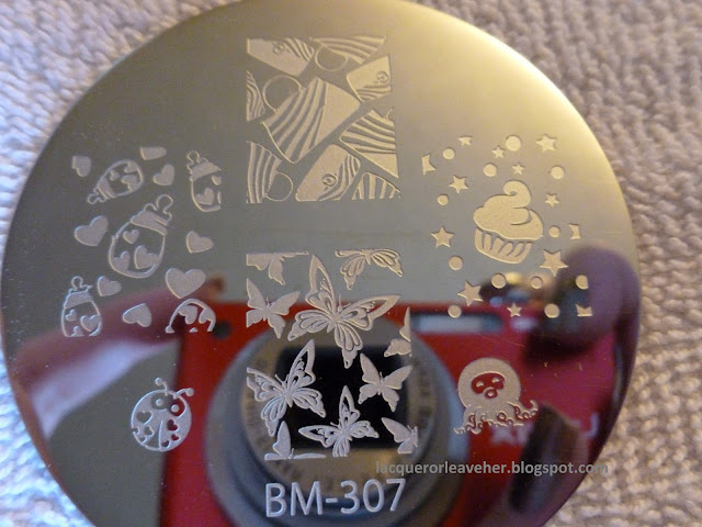 Lacquer or Leave Her   Review  New Bundle Monster stamping plates 301