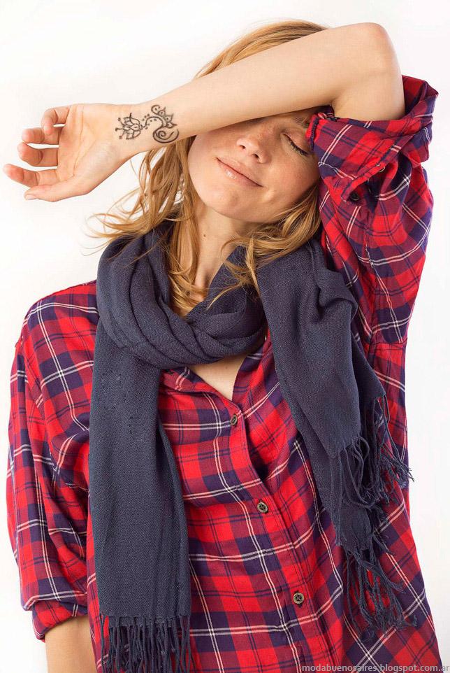 Moda otoño invierno 2015 camisas de mujer.
